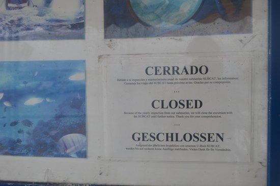 Subcat closed