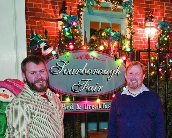 Scarborough Fair Bed & Breakfast: Hosts Barry & Jeff welcome you for the holidays!