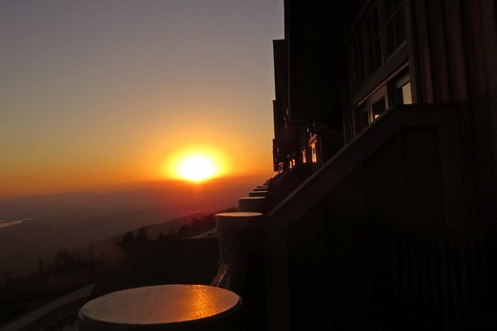 The Lodge at Mount Magazine : Sunset from the balcony 11-11-14