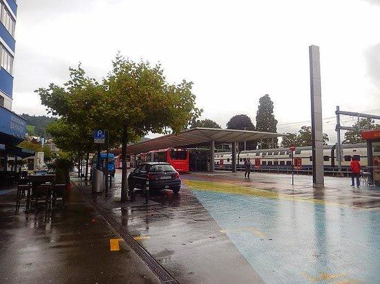 Hotel Meierhof: Estação de trem, em frente do hotel