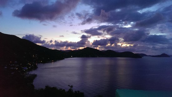 Breathtaking view after sunset Bananakeet Cafe BVI