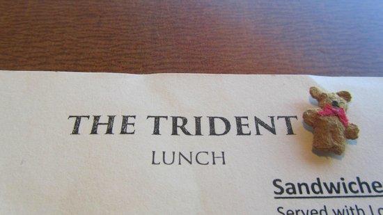 Trident Restaurant: Teddy on a visit