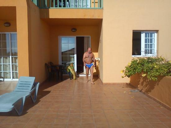 La Caleta : Terraza/solarion del apartamento