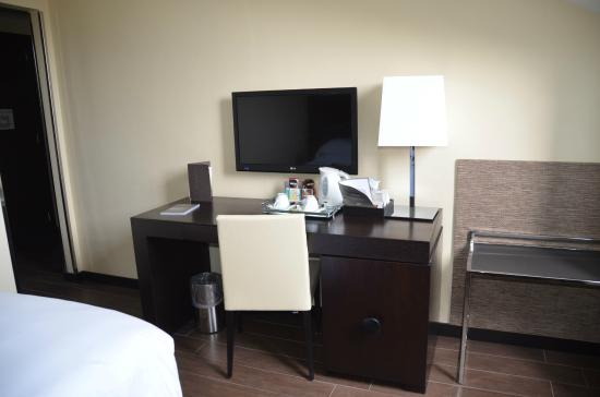 Starhotels Majestic : Large TV and desk