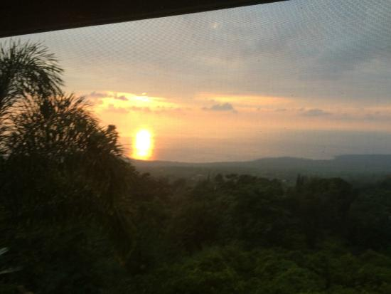 Aloha Guest House: Sunset view from the screened lanai adjacent to our room