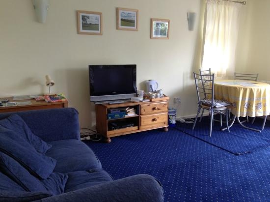 Courtlands Nurseries Bed and Breakfast : Spacious Family room sofa (bed), TV, table and chairs