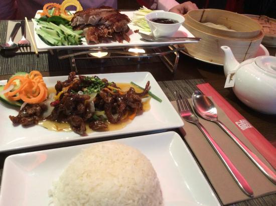 Nagasui: duck and crispy beef..chen pi niu