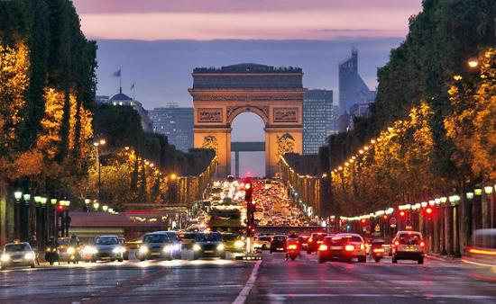 Image result for Champs-Élysées and Arc de Triomphe