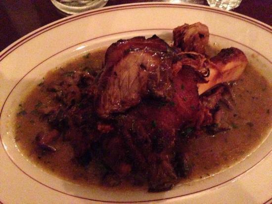 Presidio Social Club: Crispy Pork Shank topped with Foie Gras . . . on a Monday!
