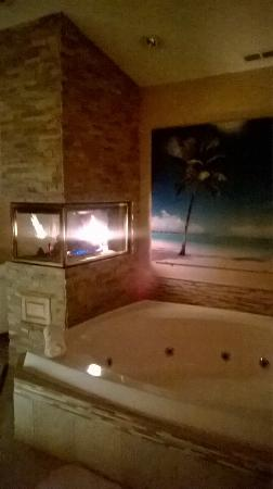 Sybaris Frankfort: Fireplace and Whirlpool