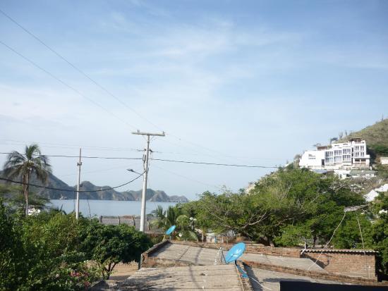 Hotel Casa D'mer Taganga: Vista desde el comedor Segundo Piso