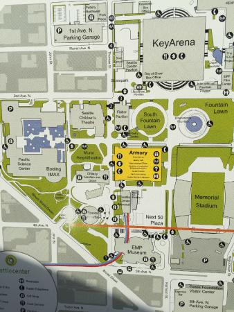 Map of the grounds Picture of Seattle Center Seattle TripAdvisor