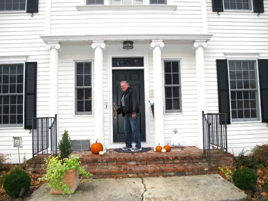 The Dana-Holcombe House: Ken standing in front