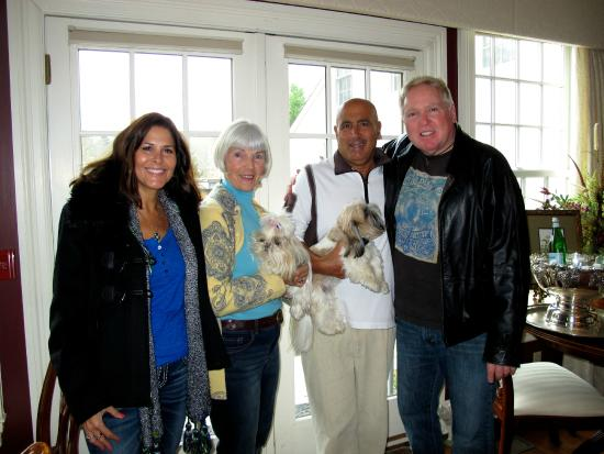 The Dana-Holcombe House: Ken and I with Jane and John