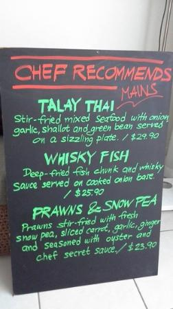 Siam by the Sea : Chef recommends