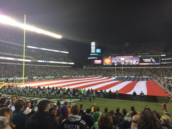 Lincoln Financial Field: Monday Night Football!  View from Section 112.  Great Seats and Great Fans!
