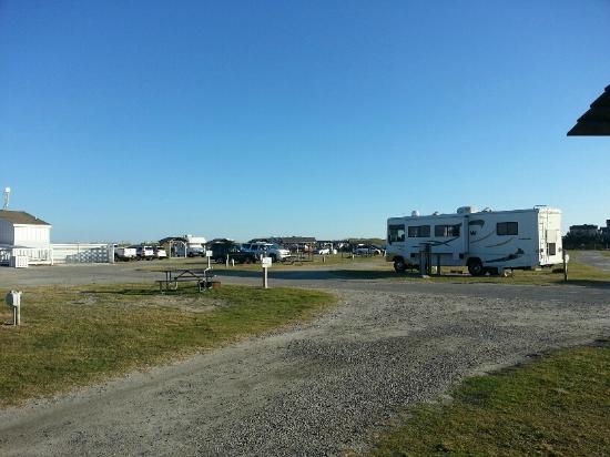 Cape Hatteras KOA: interior roads and sites