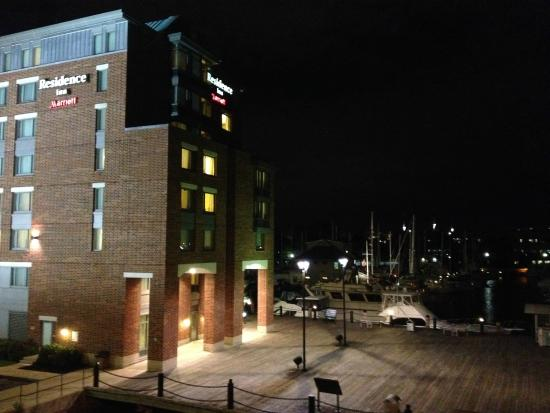 Residence Inn Boston Harbor on Tudor Wharf: View from bridge that we walked on to get across the river to north end