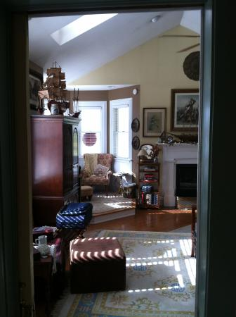 H. S. Clay House B & B and Guest Cottaage: From hall into Turret Room