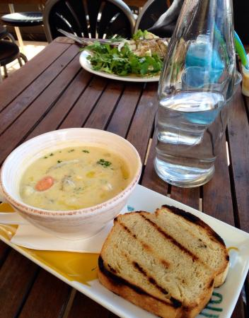 Pasini's Cafe: Seafood chowder. Larger serve available in a bowl. Delicious!