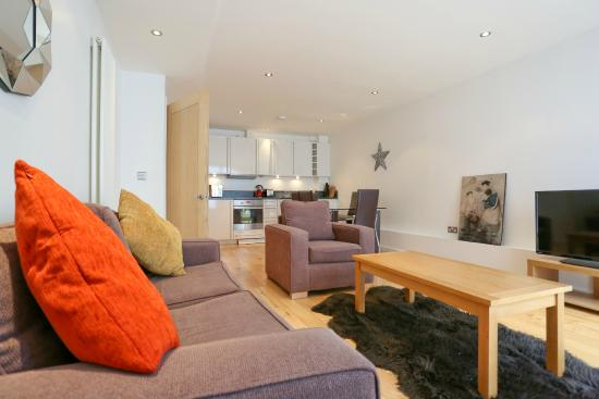 Chand Apartments : Large open plan living rooms!
