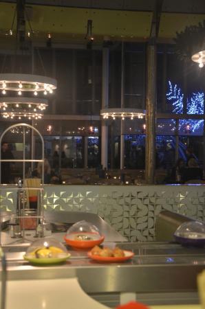 Yo! Sushi - Harvey Nichols: The view to the restaurant