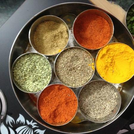 Shashi Cooking Classes: Spices we used