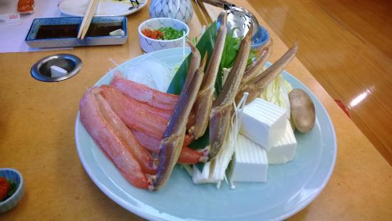Kanidouraku Dotombori-Honten: มาเป็นแบบนี้เลยครับ เวลากิน สะดวก จิ้มในหม้อ ชาบู ได้เลย