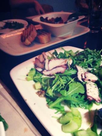 Black Skirt Restaurant: Apps - octopus and Caponata