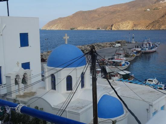 Apollon studios : view from upper terrace