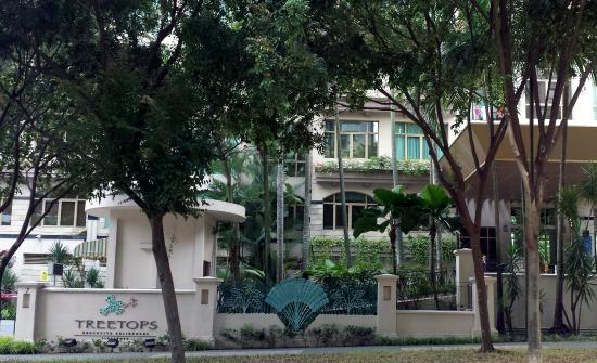 Treetops Executive Residences Singapore: Treetops pool and waterfalls
