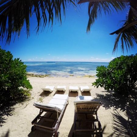 Beach Beds Picture Of Crown Beach Hotel Mahe Island Tripadvisor