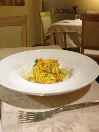 Ristorante Balicco : spaghetti con bottarga e arselle