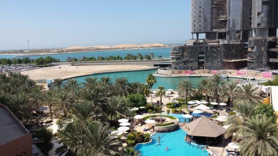 Sheraton Abu Dhabi Hotel Resort View Of Pools Beach From