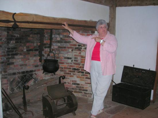 Hoxie House fireplace