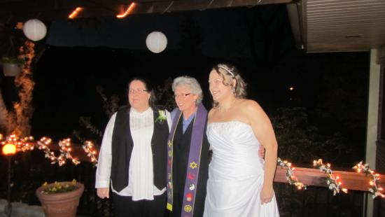 Brookside Mountain Mist Inn: Carolyn and us after the ceremony.