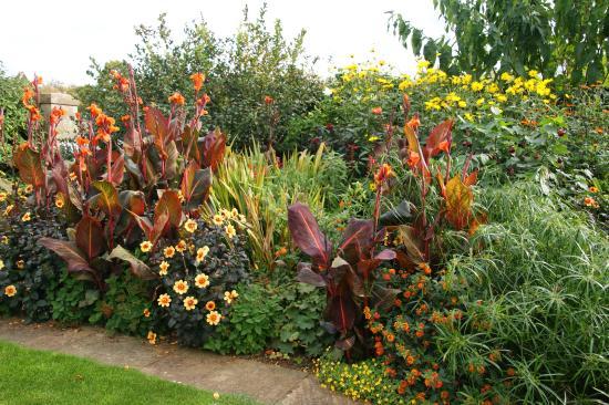 Bourton House Garden: View of gardens