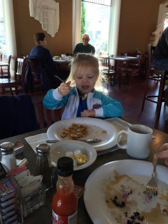 Ena Cafe: My granddaughter having her pancakes at Ena