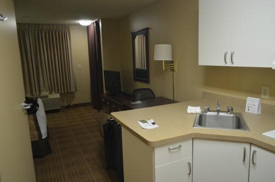 Extended Stay America - Austin - Downtown - 6th St.: la camera e zona cucina