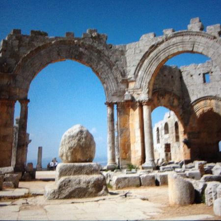 Saint Simon Citadel (Sam'an Citadel, Qalat Samaan) : I resti della colonna