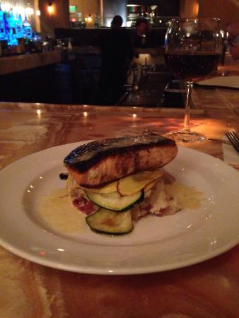 The Emily Morgan Hotel - a DoubleTree by Hilton: Salmon dinner.  Was cold this trip, had dinner in both nights.
