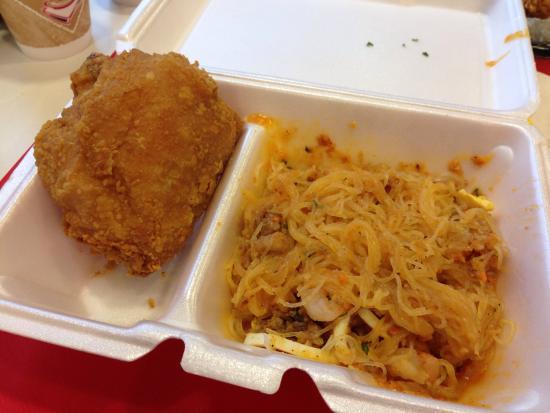 Jollibee Anaheim Chicken Joy And Palabok For Breakfast