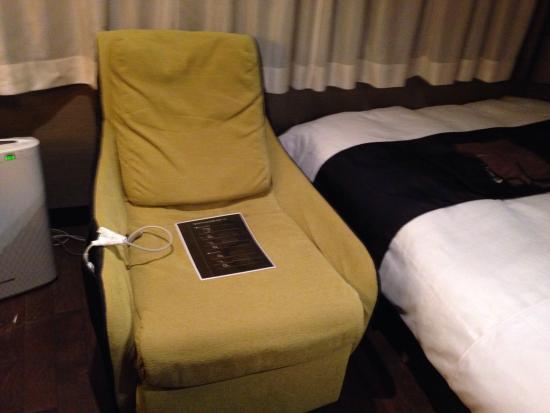 Silk Inn Kagoshima: お部屋のマッサージチェア