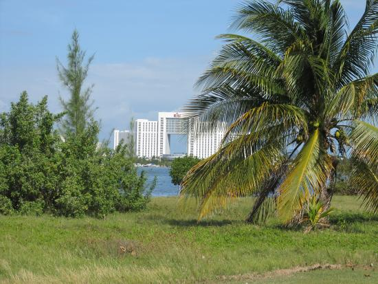 Cancun Golf Club at Pok-Ta-Pok: Our hotel from the course