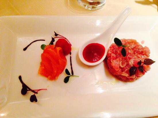 Hotel Cavour: Antipasto di tonno e salmone..