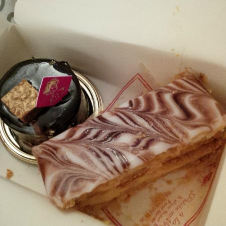La Petite Marquise : Chocolate Mouse Cake and MilleFeuille