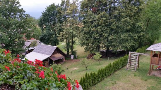 Pension Torok: Вид на сад из комнаты пансиона