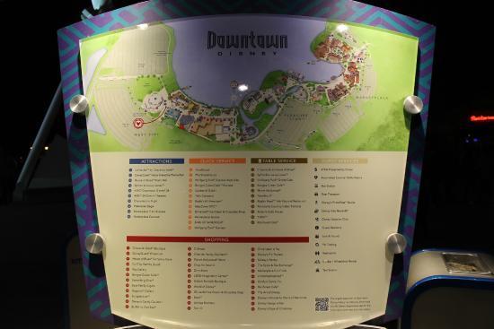 Disney Springs: Mapa da Downtown Disney