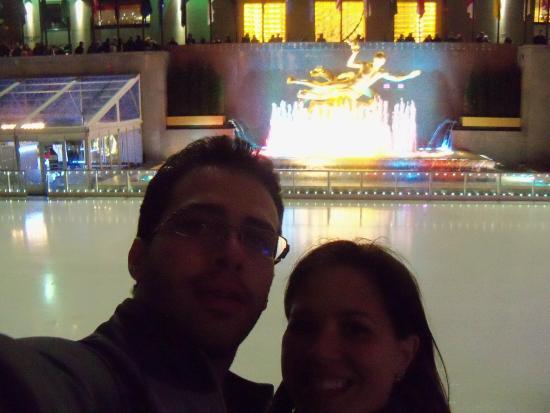 The Rink at Rockefeller Center: vista da pista