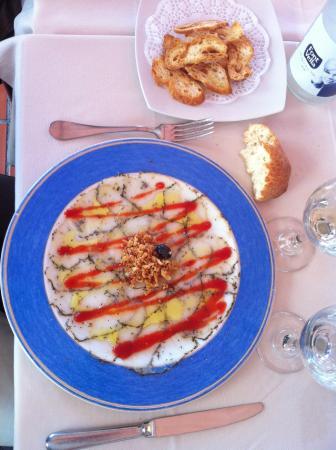 Restaurant Curia Reial SL. : carpaccio de bacalla